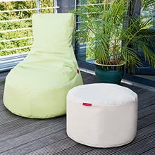 Bean bag for the garden in green and beige