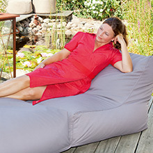 Bean bag lounger for the garden gray