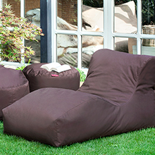 Outdoor beanbag in brown