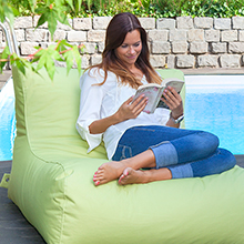Outdoor bean bag in green